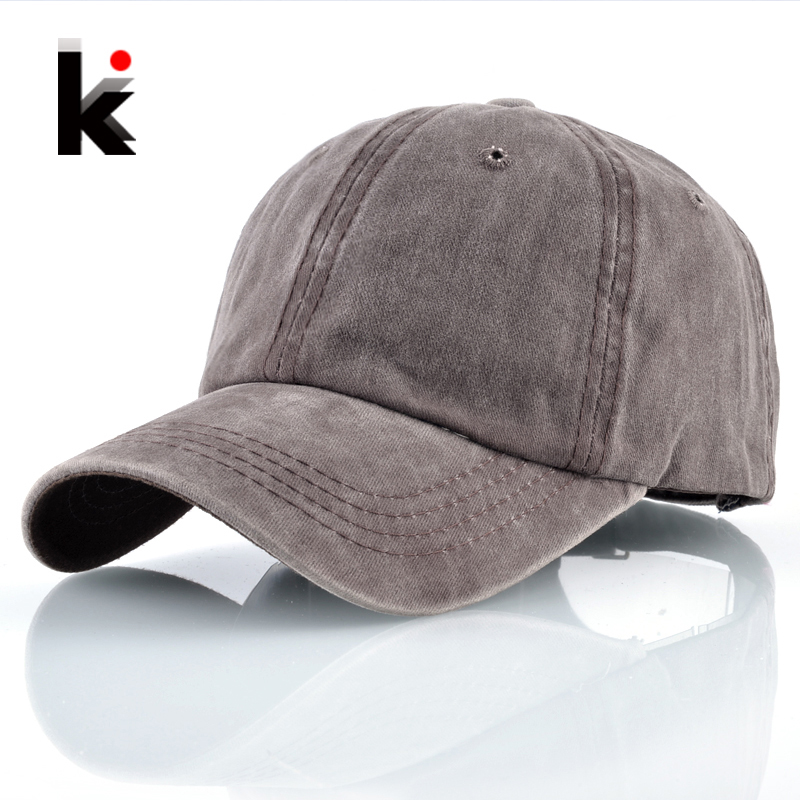 Washed Denim Dad Hats For Men Women Solid Snapback Baseball Caps Outdoor Cotton Sport Casquette Homme Spring Summer Bone Gorras glaedwine baseball cap men women snapback caps brand homme hats for women falt bone jeans denim blank gorras casquette plain hat