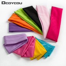 1PC Fashion Style Absorbing Sweat Headband Candy Color Hair Band Popular Hair Accessories for Women(China)