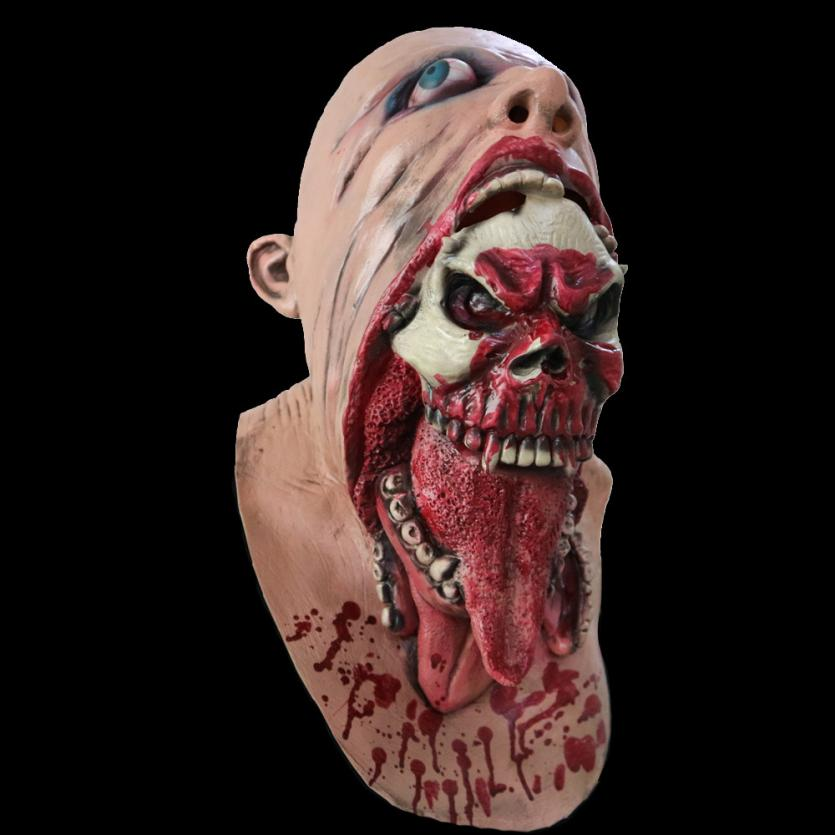 Halloween Mask 2017 Bloody Zombie Mask Melting Face Adult Latex