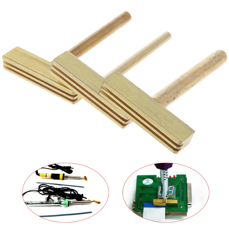 3 Pcs 30W 40W 60W T Soldering Iron Tips with Free Hot Press For LCD Screen Cable Repair with 20cm Hot Strip