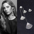 Allan cocoa western style APM Monaco personality big earrings 1892555 asymmetric mosaic zircon