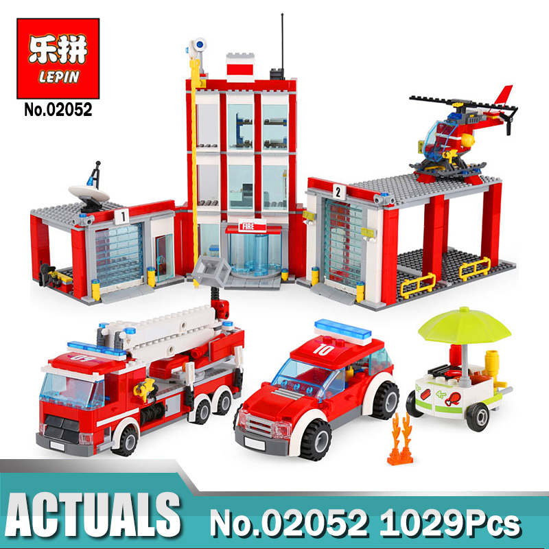 Lepin City Series 02052 Fire Station 02113 City Hospital Education Building Blocks Model Toys Legoinglys 60204 60110 Kids Toys new lepin 02052 genuine city series 1029pcs the fire station set 60110 building blocks bricks funny kid s toys as chritmas gifts