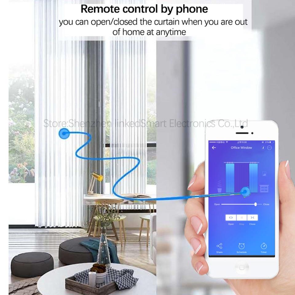 Smart Motore Elettrico Ewelink APP, smart Home, Casa Intelligente Wifi Tenda Del Motore A Distanza/lavoro di controllo vocale con Alexa/google casa Per Smart Home, Casa Intelligente - 2