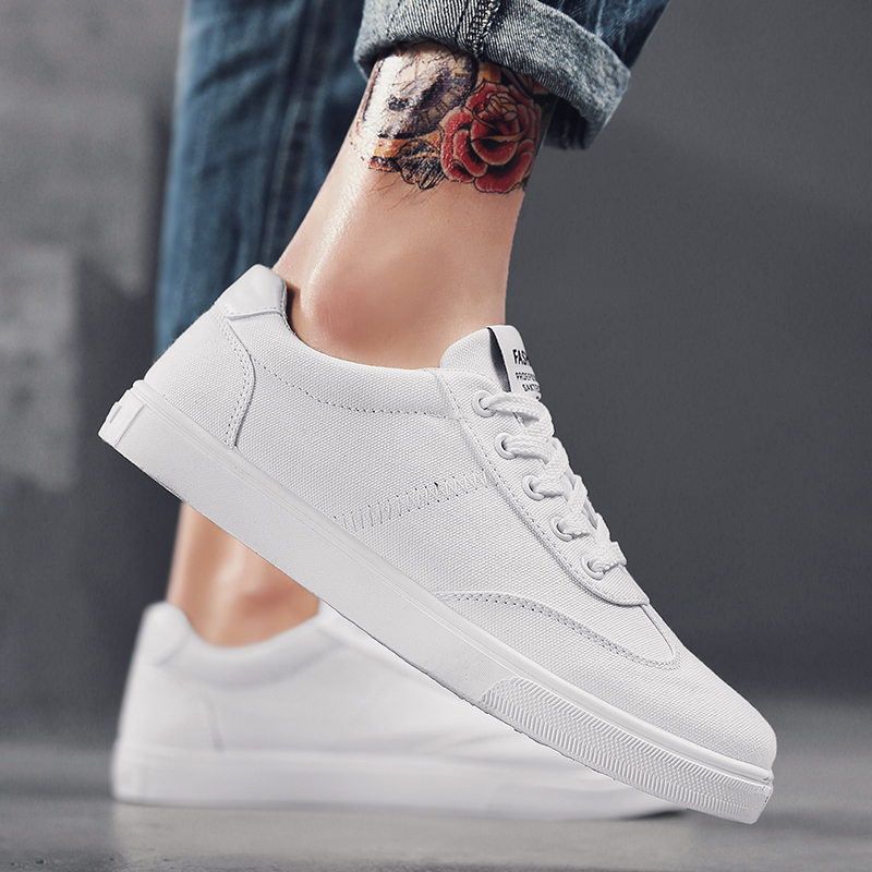 Hemmyi new white canvas shoes for men breathable men's casual shoes chaussure homme male shoes adult footwear mens sneakers 2017 new chaussure homme mens shoes casual leather vulcanize hip hop white men platform summer hot sale breathable black shoes