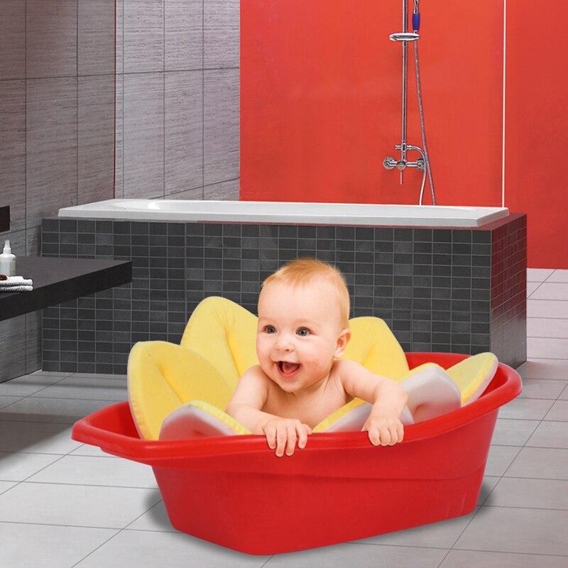 Blooming Baby Bath Aid Bathe Lotus Infant Flower Cushion Safety ...