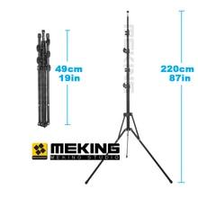 "Mekingพับ220เซนติเมตร/7'2 ""แฟลชขาตั้งไฟL-2000โคมไฟขาตั้งกล้องสำหรับการประชุมเชิงปฏิบัติการสตูดิโอวิดีโอแสง5ส่วนแม็กซ์โหลด3กิโลกรัม"