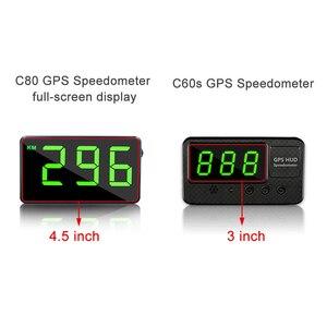 """Image 2 - Vjoy GPS compteur de vitesse 4.5 """"C80 odomètre de vitesse kilométrage HUD affichage alarme de vitesse numérique mi/h KMH affichage daltitude projecteur 3 C60s"""