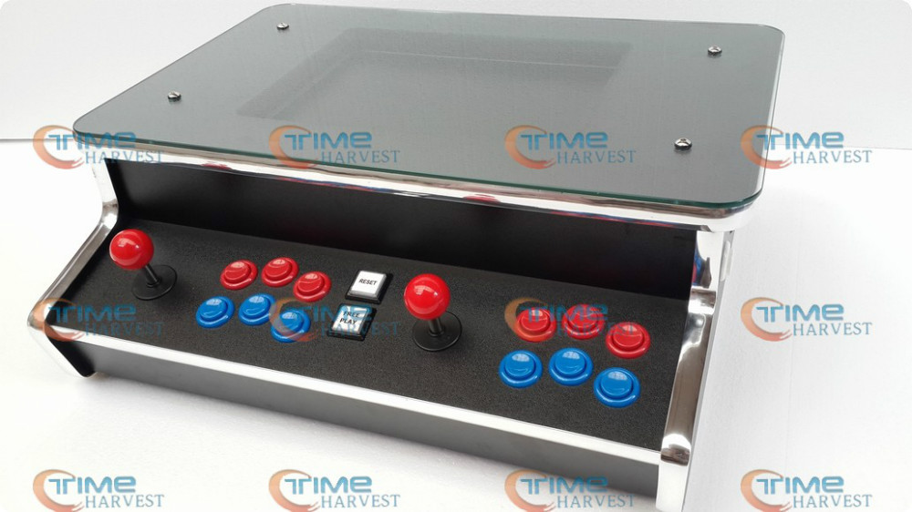 15 inch LCD 2 Player Table Top Machine With 200 in 1 Game board and With Long shaft joystick and Illuminated button/desktop game