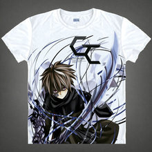 RTXBQU 2017 Top Fasion New Casual Broadcloth Brand Clothing Unisex Summer Japanese Anime Guilty Crown