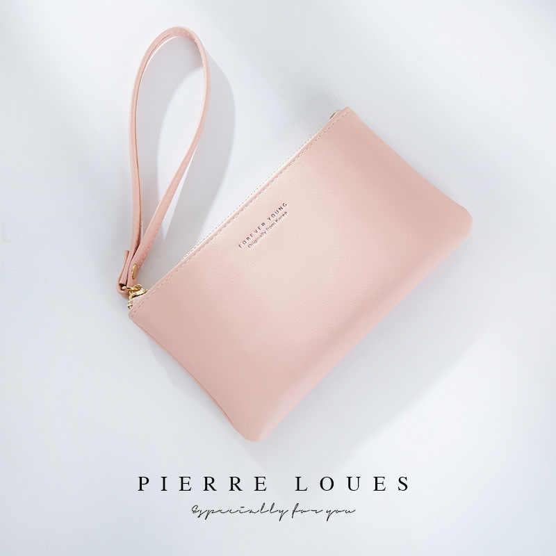 Portfel kobiet torebki Pu skóra projektant luksusowe 2019 długi portfel sprzęgła kobiet kopertówka damska w stylu Vintage Carteira Feminina