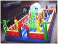 Inflable puente castillo inflable inflable bouner combo para niños jugar a las casitas