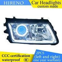 Hireno Custom Modified Headlamp For Volkswagen Passat B5 2000 06 Headlight Assembly Car Styling Angel Lens