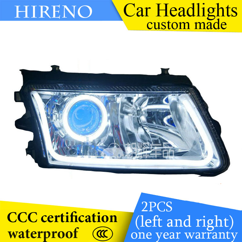 Hireno custom Modified Headlamp for Volkswagen Passat B5 2000-06 Headlight Assembly Car styling Angel Lens Beam HID Xenon 2 pcs hireno headlamp for cadillac xt5 2016 2018 headlight headlight assembly led drl angel lens double beam hid xenon 2pcs