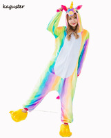 New Rainbow Unicorn Ponto Padã Kugurumi Pijama Anime Cosplay Unisex Adulto Macacão Pijamas Para O Halloween Party