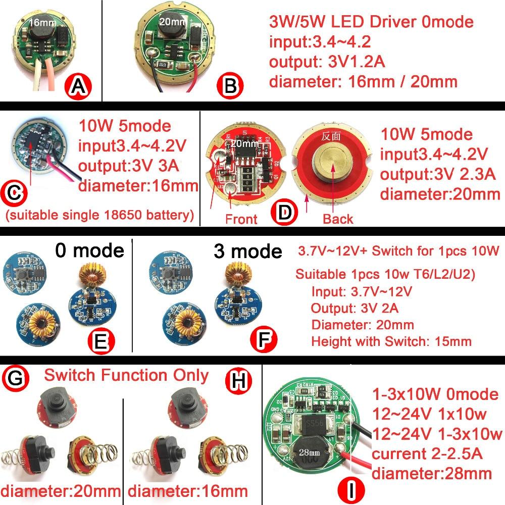 1pcs LED Driver For Cree 3W 5W 10W XPE XRE XPG2 Q5 XML L2 T6 18650 battery LED flashlight Car Light 3.7V 12V 24V Power Supply sitemap 18 xml