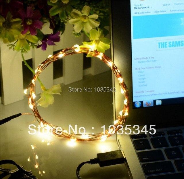 USB DC 5 V 33Ft 100 Leds Quente Branco Fio de Cobre LED Estrelado Luzes Individuais, LED String Luz para interior/Decoração ao ar livre