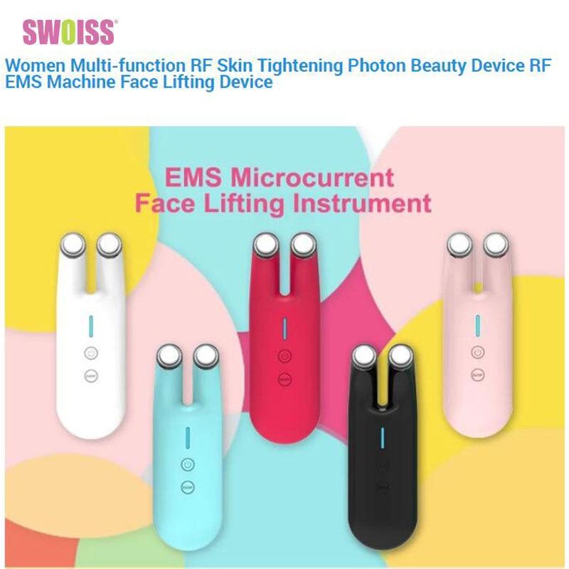 Women Multi-function RF Skin Tightening Photon Beauty Device RF EMS Machine Face Lifting Device Face Lift Skin Tightening Ion