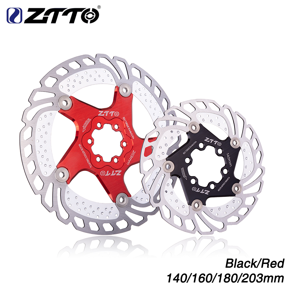 ZTTO 160 180mm Bicycle Floating Disc Brake Rotor 6 Bolts for Road Bike BMX MTB