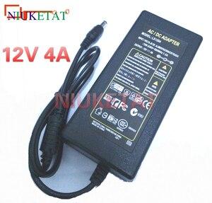 Image 1 - 1 pces lx1204 ac 100 240 v para dc 12 v 4a 48 w adaptador de alimentação comutação fonte de alimentação carregador 12v4a para rgb led tiras de luz