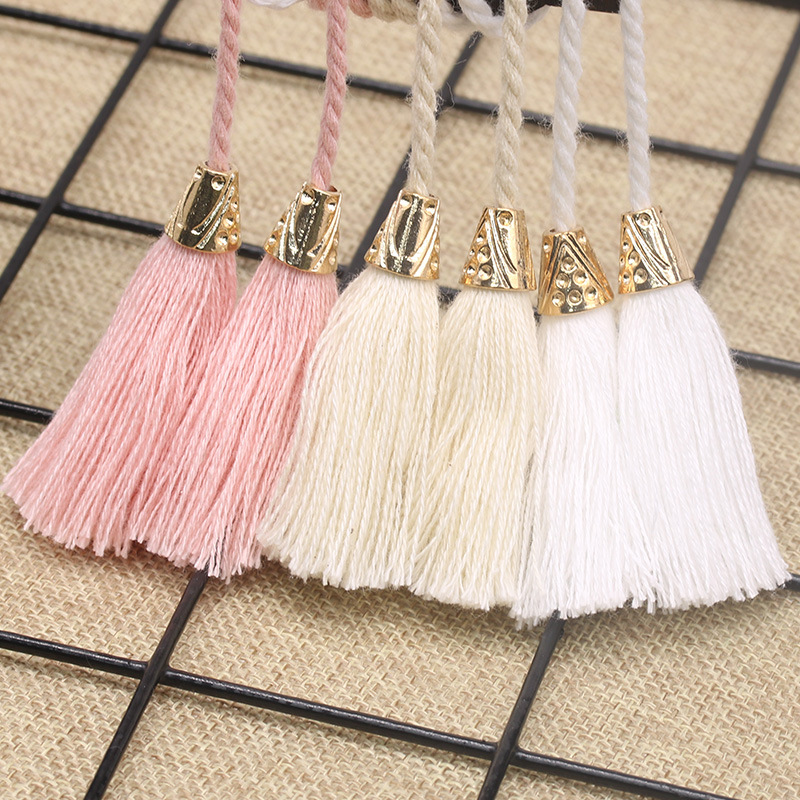 2Pcs Curtain Tassel 5cm Cotton Tassel Rope Tie Backs Simple Style Handmade Tassels DIY Home Window Jewelry Garment Accessaries