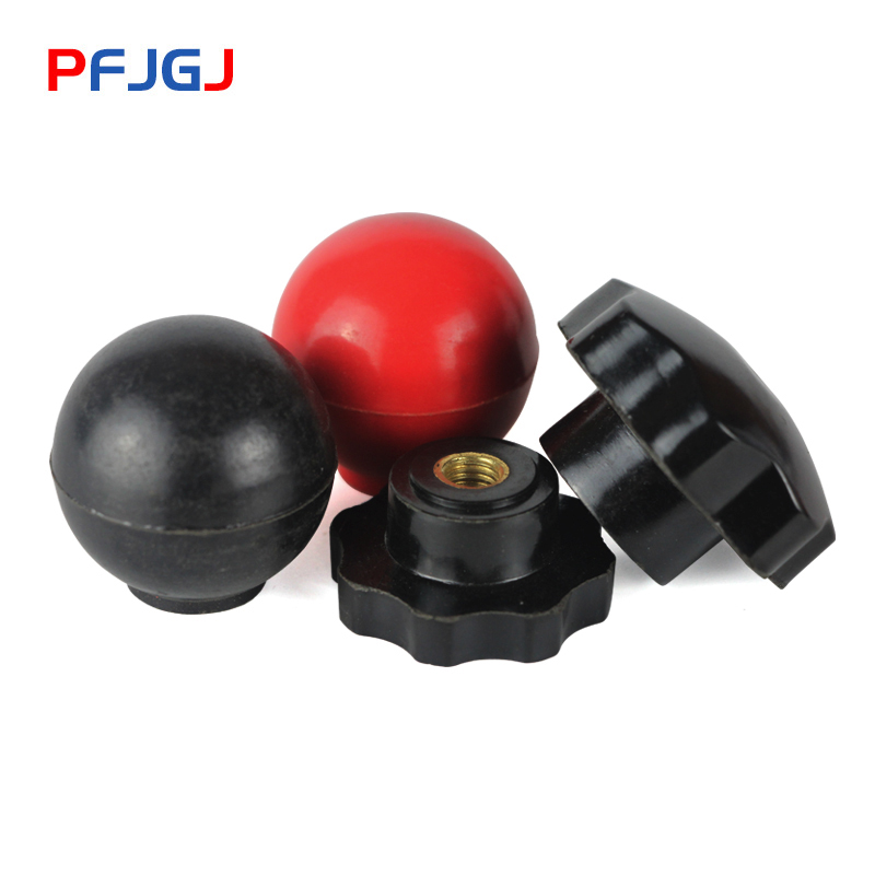 Peng Fa 10PCSM6 M8 M10 M12Plum Bakelite Hand Tighten Nuts Handle Thread Star Mechanical Black red Thumb Nuts spherical Nylon Nut in Nuts from Home Improvement