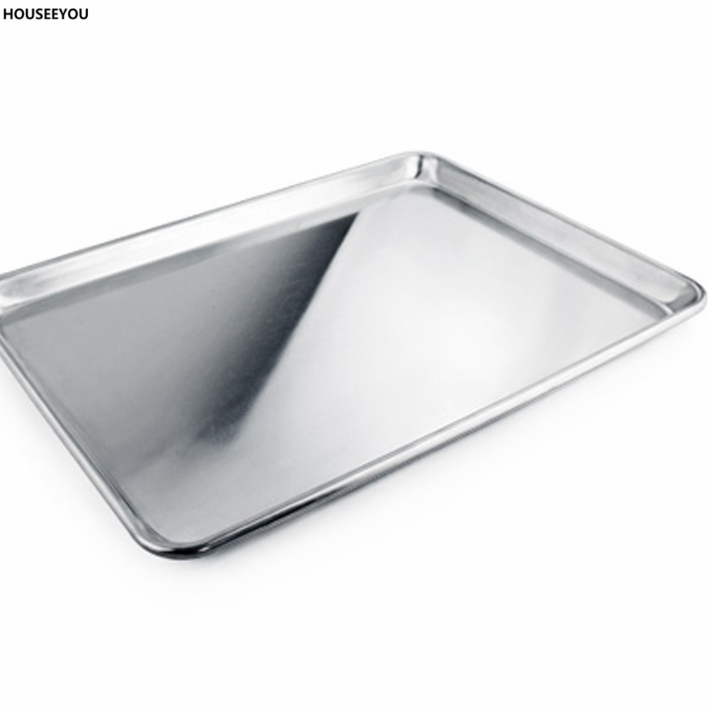 1pc 457*660*25mm Cookie Sheet Edged Shallow Baking Pan Tray Aluminum ...