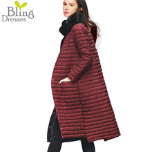New 90 % White Duck Down Coat 2016 Snow Winter Women's Fashion Slim Long Paragraph Knee Extension Hooded Single Breasted Jackets