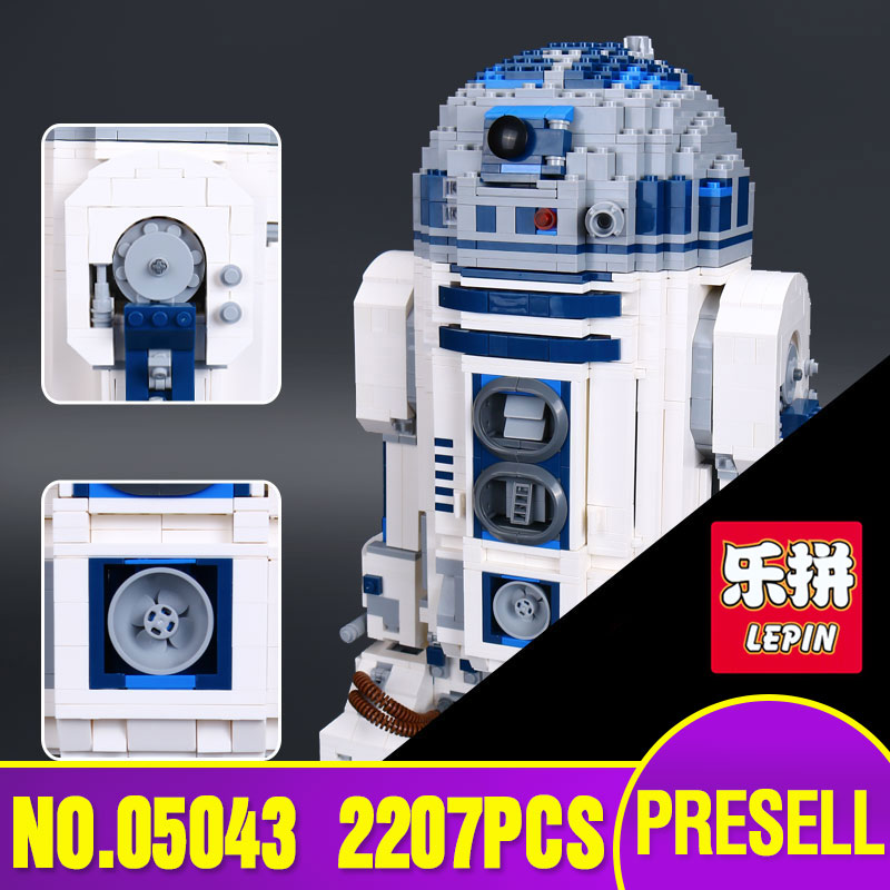 Lepin 05043 Genuine Star Series The R2 Robot Set Out of print D2 Building Blocks Bricks Children Toys 10225 wars riggs r library of souls