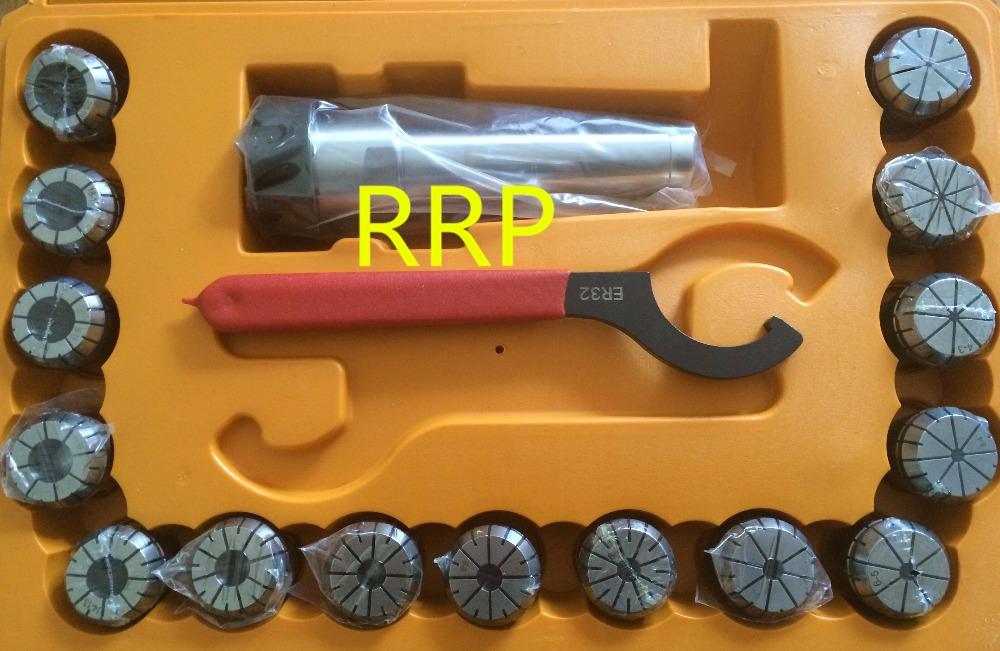 Atoplee ER32 Ensemble de mandrins CNC haute pr/écision 6,35 mm 1,27 cm Argent/é Three sizes 6,35 mm