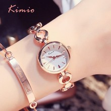 KIMIO Simple Fashion Women Watches Dimensional Scale Quartz-watch Hollow Metal Watch Bracelets Ladies Top Brand Luxury