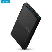 Vinsic 30000 мАч Портативный Батарея банка для iphone8 X Dual USB High-End внешний литиевая Батарея Bank питания для компьютер Тетрадь