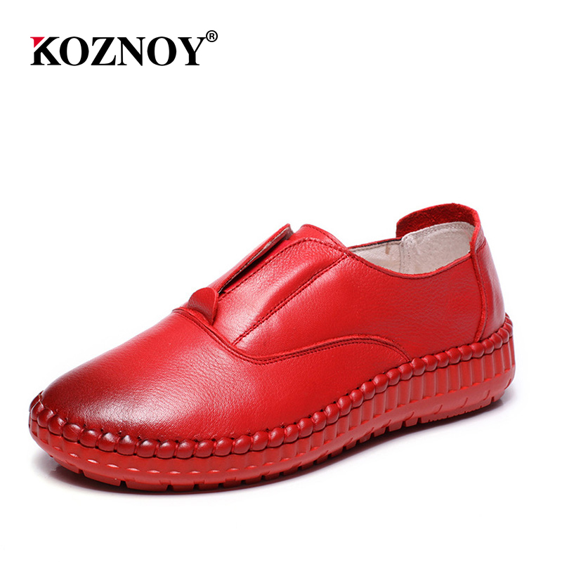 2018 Genuine Leather Flat Shoes Woman Slip on Loafers Cowhide Flexible Spring Winter Casual Shoes Women Flats Women Shoes 2018 new genuine leather flat shoes woman ballet flats loafers cowhide flexible spring casual shoes women flats women shoes k726