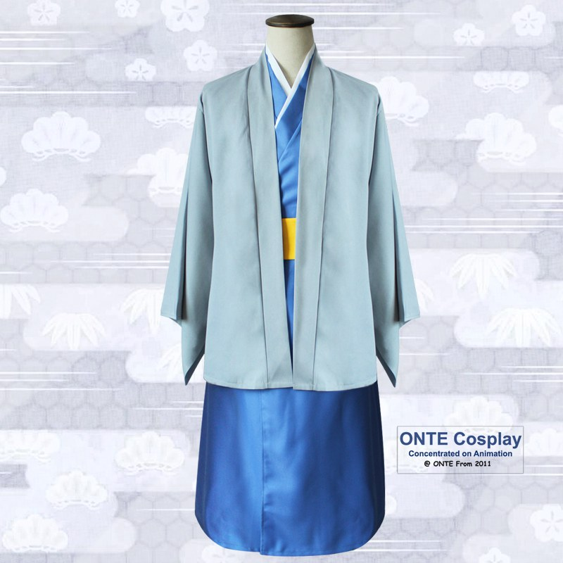Anime GINTAMA Katsura Kotarou Cosplay Costumes Complete Outfit set Coat + Kimono + Belt for Halloween-in Anime Costumes from Novelty & Special Use    3