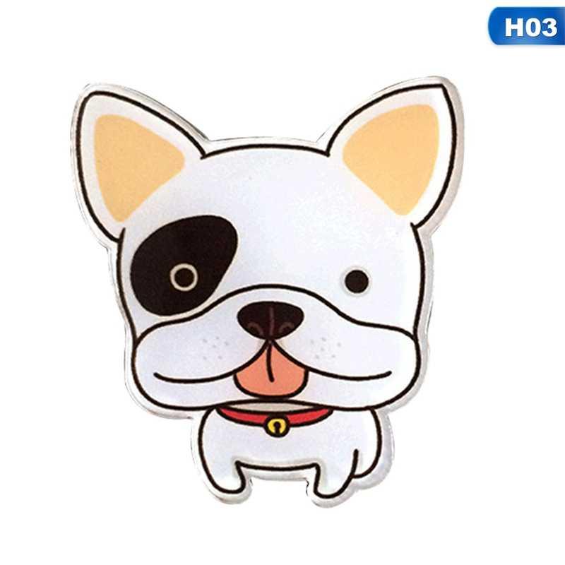 1 ピースホットおかしいチャームかわいい漫画の動物性食品鳥ペット足アクリル襟ピンバッジのコサージュアクリルバッジかわいい猫犬 Broches