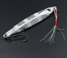 WLDSLURE 1Pcs Metal Spoon Boat Fishing Lure VIB Knife Jig Bait Lead Fish With Hooks
