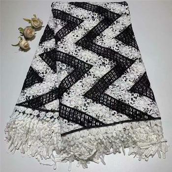 latest high quality guipure lace fabric 2019 nigerian lace fabrics gupure cord lace for wedding dress