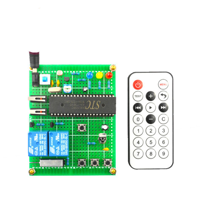 US $24 3 |Intelligent infrared remote control curtain control system design  DIY kit-in Integrated Circuits from Electronic Components & Supplies on