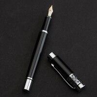 Hero Pen Black Carved Liya Gift Box Iridium Pen Ink Senior Send Pen Calligraphy Writing Special