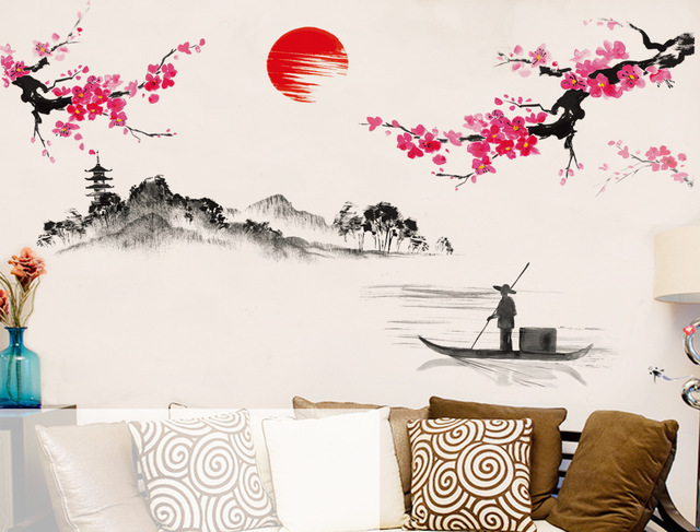 Aliexpress.com : Buy 120*150cm Diy Chinese Style Red Plum