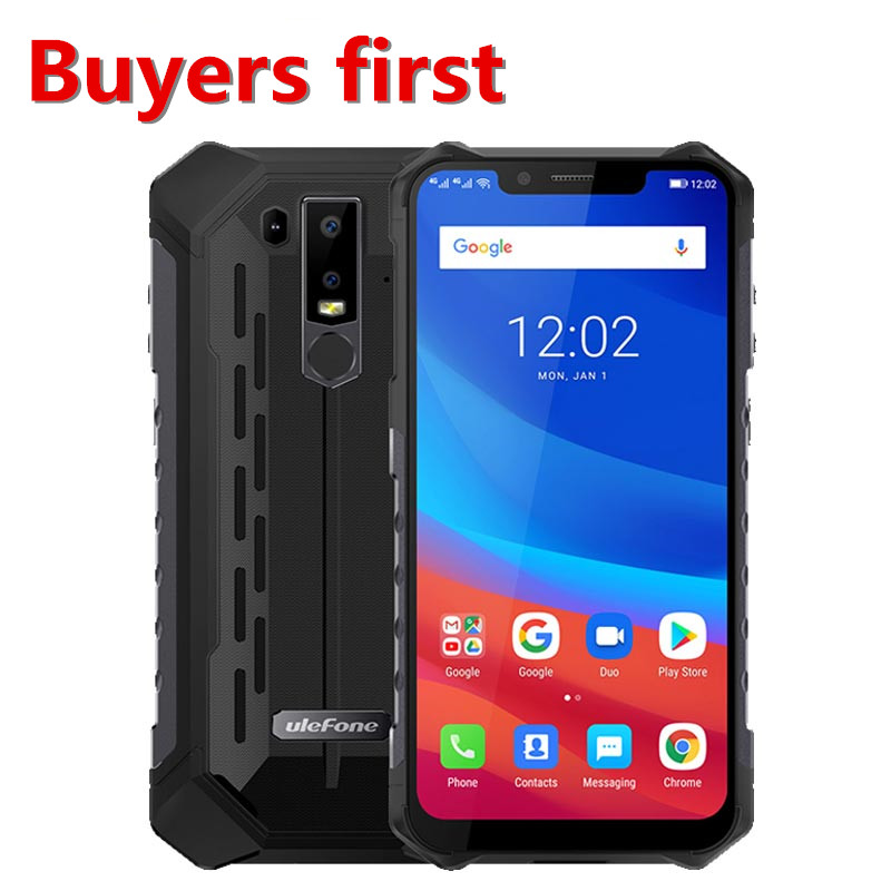"2019 Ulefone Armor 6 5000mAh 4G LTE Smartphone 6.2""FHD Android 8.1 Helio P60 MT6771 21MP 6GB RAM 128GB ROM NFC OTG mobile phone"