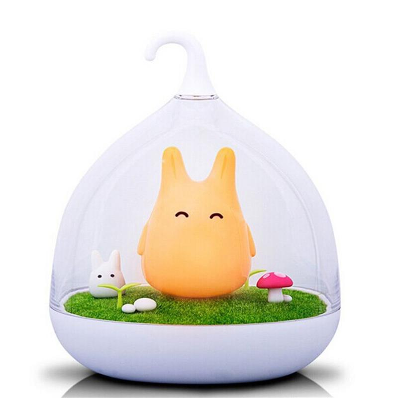 Cute Cartoon Picture Portable Creative Rechargeable Smart Touch Sensor USB LED Baby Sleep Night Light Lamp With Touch Dimmer