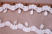 off white cotton lace trim, cotton crocheted trim lace, retro lace with necklace design cold shoulder flowing blouse with lace trim