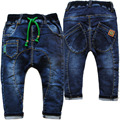 4015 гарем брюки мягкие джинсы детские брюки мальчика джинсы джинсы детские брюки весна осень брюки дети мода хороший флот синий