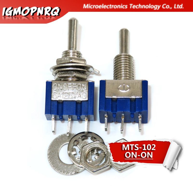 Miniature Toggle Switch 3 Pin ON// //ON SPDT 6A 125VAC//3A 250VAC Mini Switches