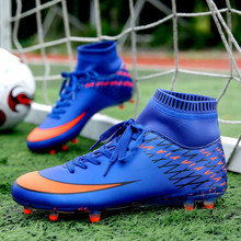 Nuevo fútbol zapatos adultos los hombres al aire libre del Top del alto  picos largos entrenamiento botas de fútbol deportes Zapa. e0aad9d9989c7