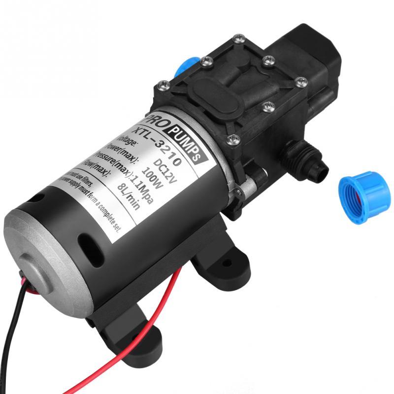 1 Pcs Selbstansaugende Wasserpumpe 12 V Dc 100 W 8l/min 160psi Hochdruck Membran Selbstansaugende Wasserpumpe Für Waschen Reines Und Mildes Aroma