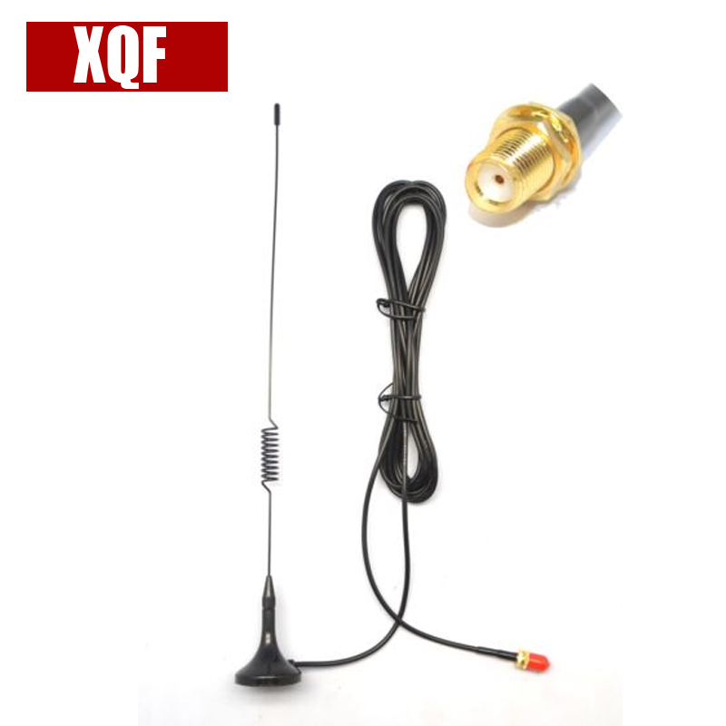 XQF NA UT-102 UV SMA-Female Dual Band Car Magnetic Antenna For BaoFeng UV-5R 888S Two Way Radio For Kenwood Walkie Talkie