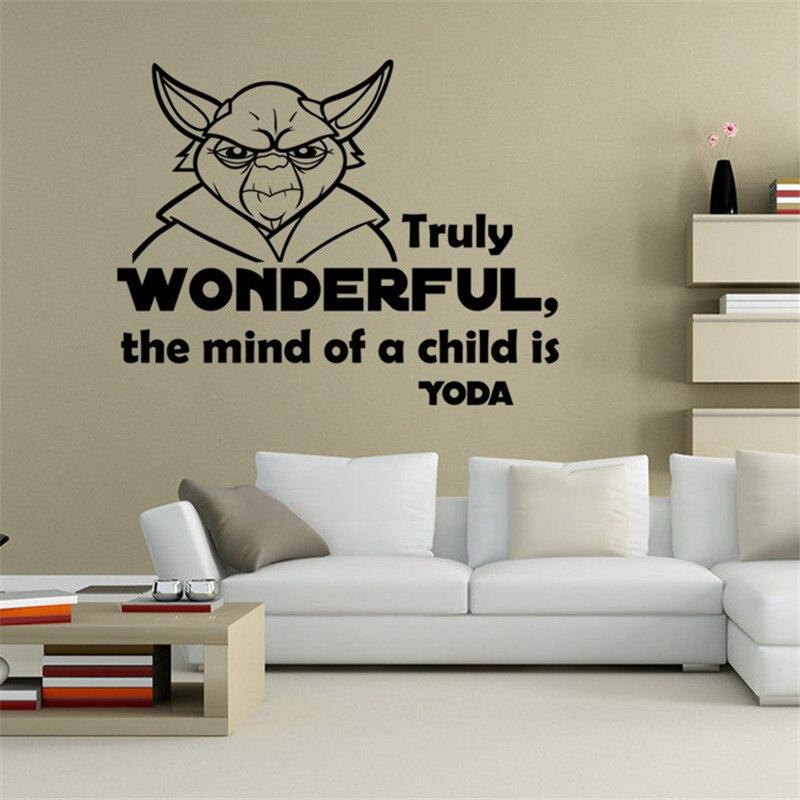 Yoda star war wall stickers home decor decal removable wall sticker kids room decor art decorative vinyl sticker mural