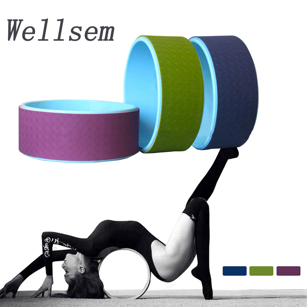 New arrival 32x13cm Yoga Grid Foam Roller Wheel Pilates Yoga Physio Gym Back Massage For waist sharp and bodybuilding wokrout circle