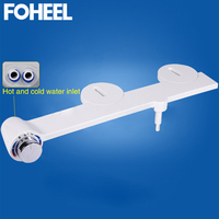 FOHEEL hot cold water Non electric bathroom toilet seat bidet self cleaning sprayer nozzle for toilet seat gynecological washing